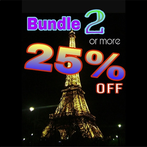 25% off on a bundle of 2 or more